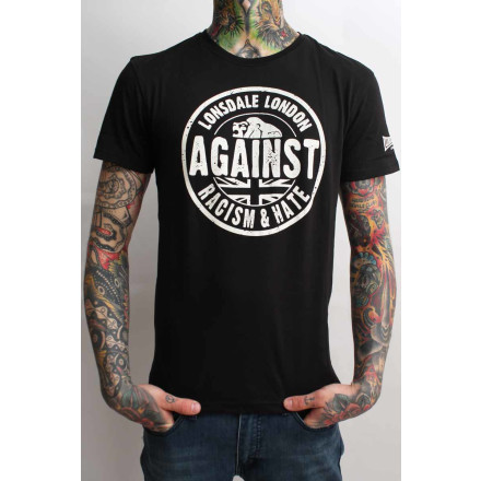 Lonsdale T-Shirt Against Racism Regular Fit Black