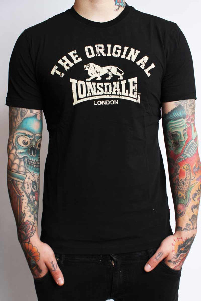 Lonsdale T-Shirt Original Regular Fit Black