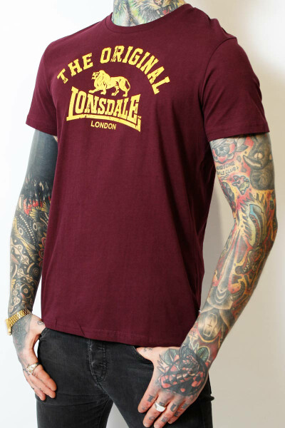 Lonsdale T-Shirt Original Regular Fit Oxblood