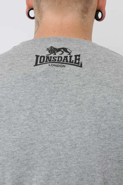 Lonsdale T-Shirt Logo Regular Fit Marl Grey