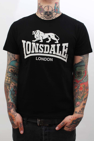 Lonsdale T-Shirt Logo Regular Fit Black