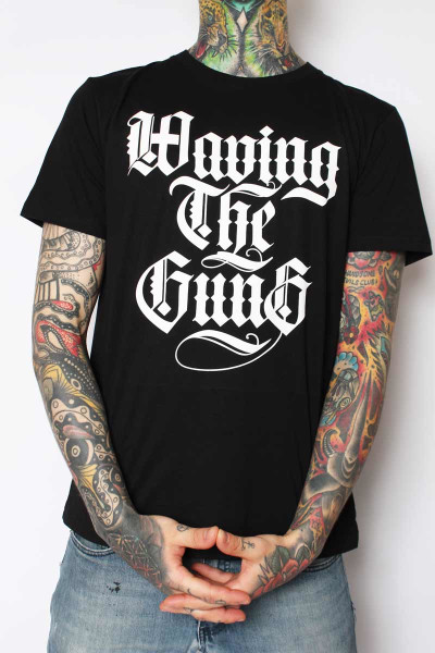 Waving The Guns T-Shirt Logo Black