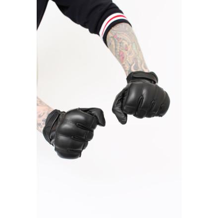 Gloves Quartzsand Leather Black