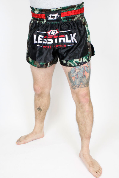Less Talk Shorts Muay Thai Camo