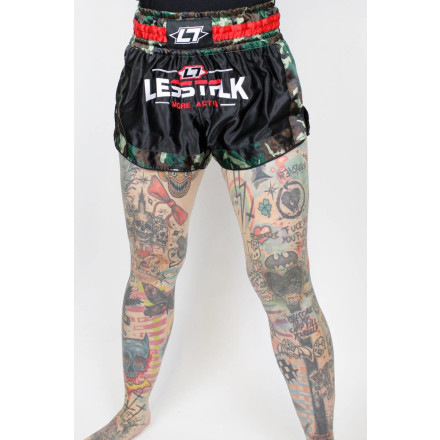 Less Talk Shorts Muay Thai Camo