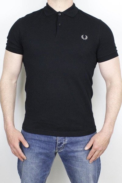 Fred Perry Polo Shirt Plain Black