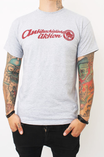 True Rebel T-Shirt Antifa Aktion Grey