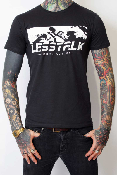 Less Talk T-Shirt Punch Used Black