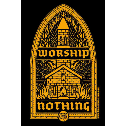 Sticker Worship Nothing (25Stck, A7)