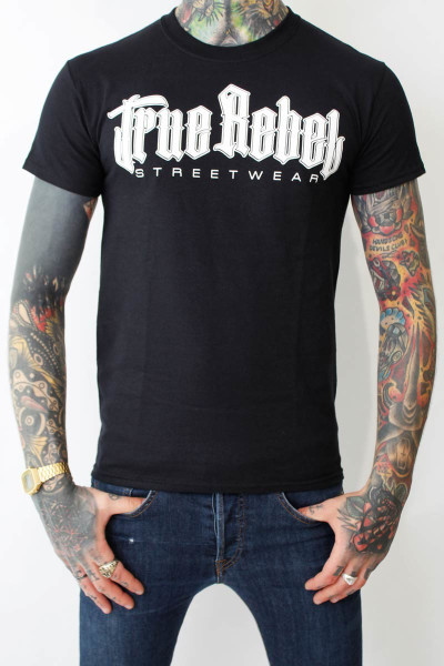 True Rebel T-Shirt Vatos Locos Black White