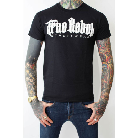 True Rebel T-Shirt Vatos Locos Black White