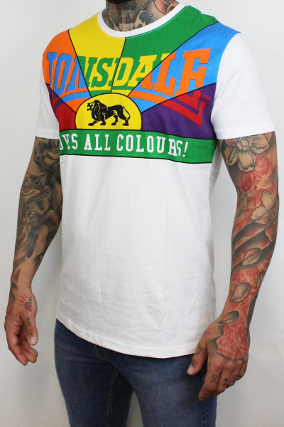 Lonsdale T-Shirt Loves All Colours Regular Fit White