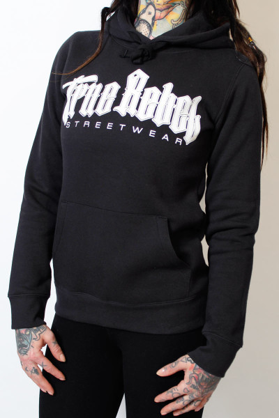 True Rebel Ladies Hoodie Vatos Locos Black