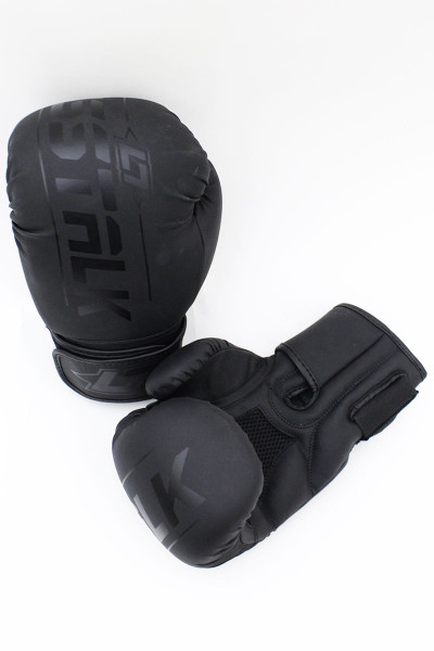 Less Talk Athletics Boxing Gloves Vegan Black