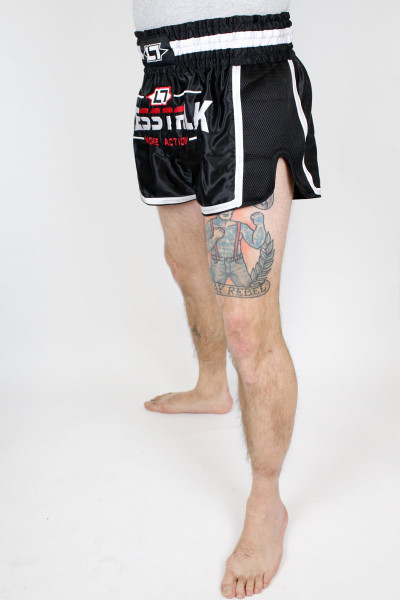 Less Talk Shorts Muay Thai Black White