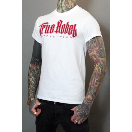 True Rebel T-Shirt Vatos Locos White Burgundy