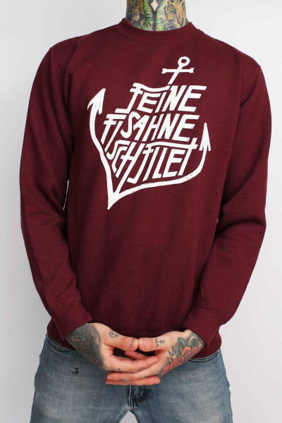 Feine Sahne Fischfilet Sweater Anchor Burgundy XS