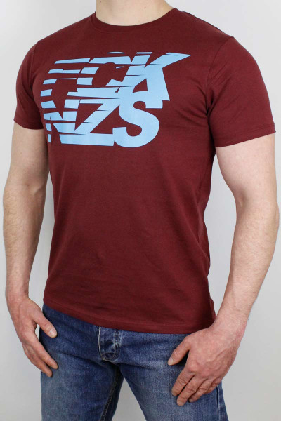 True Rebel T-Shirt Stripes Burgundy
