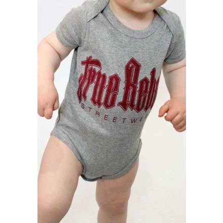 True Rebel Baby Body Vatos Locos Grey