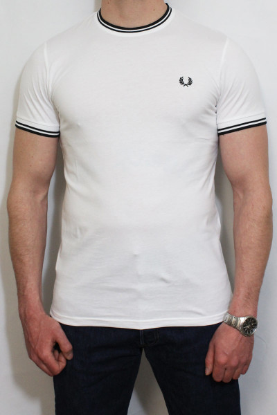 Fred Perry T-Shirt Twin Tipped White