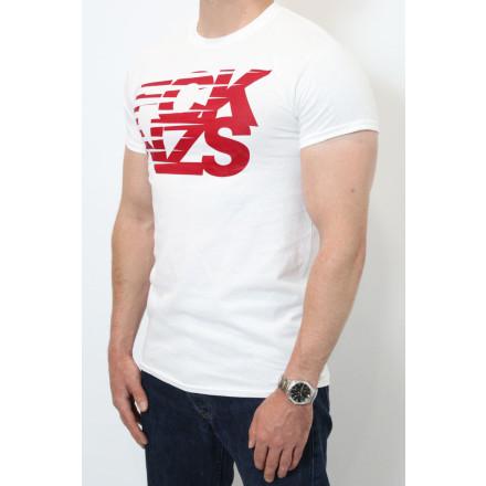 True Rebel T-Shirt Stripes White Burgundy