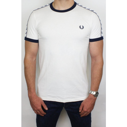 Fred Perry T-Shirt Taped Ringer Snow White