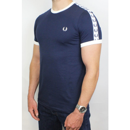 Fred Perry T-Shirt Taped Ringer Carbon Blue