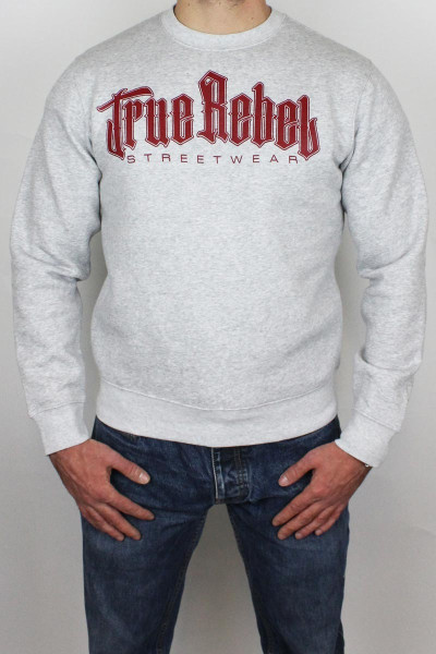 True Rebel Sweater Vatos Locos Grey Burgundy