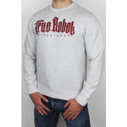 True Rebel Sweater Vatos Locos Grey Burgundy