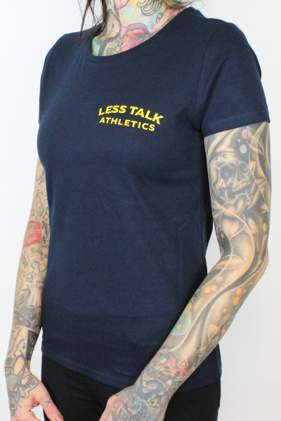 Less Talk Ladies Shirt Lowkick Navy