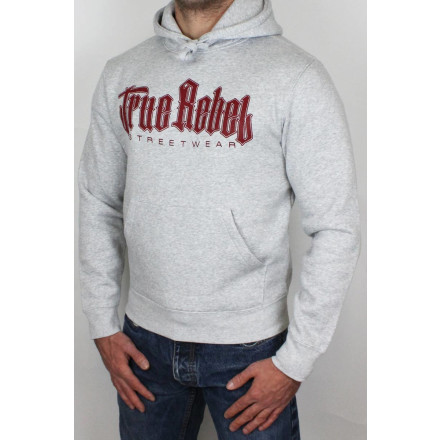 True Rebel Hoodie Vatos Locos Grey Burgundy