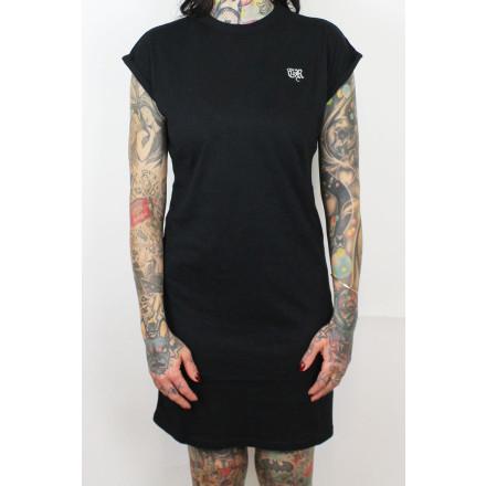 True Rebel Ladies Shirt Dress Black