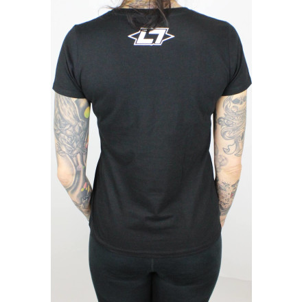 Less Talk Ladies Shirt Straight Logo Black