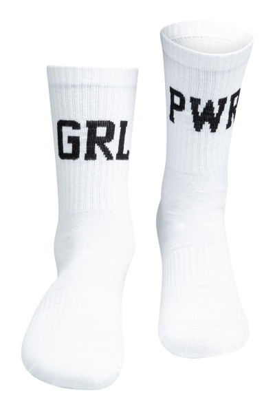 Sixblox. Socks GRL PWR White Black