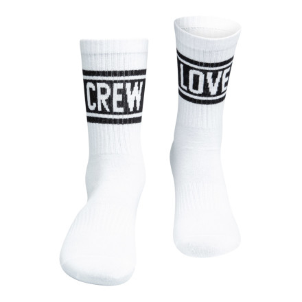 Sixblox. Socks Crew Love White Black