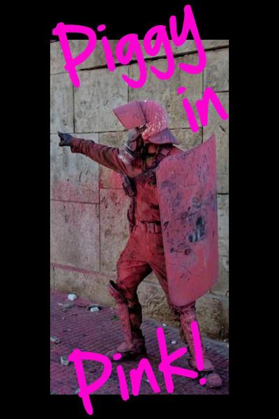 True Rebel Postcard Piggy in Pink