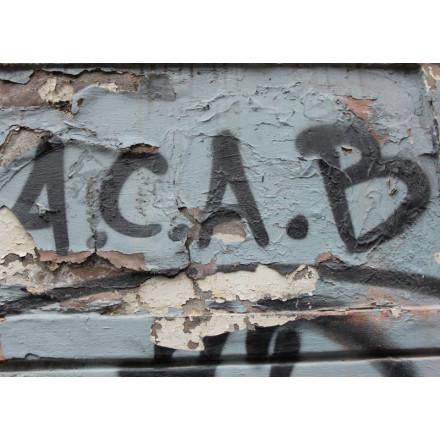 True Rebel Postcard ACAB Wall