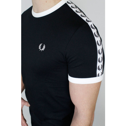 Fred Perry T-Shirt Taped Ringer Black