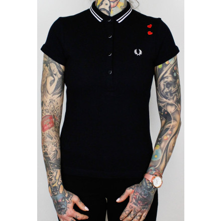 Fred Perry Ladies Amy Winehouse Shirt Black