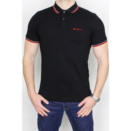 Ben Sherman Polo Shirt Signature Black