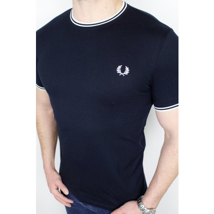 Fred Perry T-Shirt Twin Tipped Navy