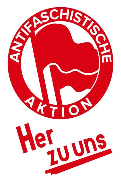 Sticker Her Zu Uns (A7, 25Stck)