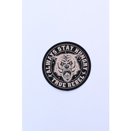 True Rebel Patch Stay Hungry Black
