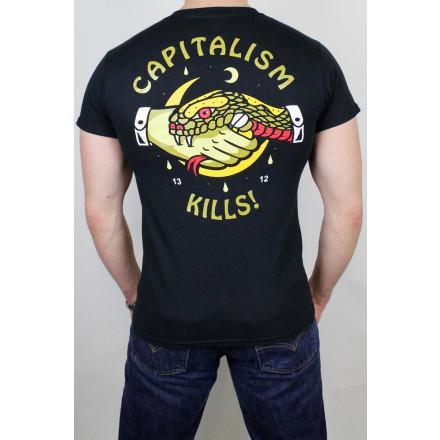 True Rebel T-Shirt Capitalism Kills Black
