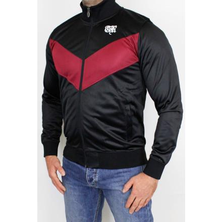 True Rebel Track Jacket Arrow Black Bordeaux