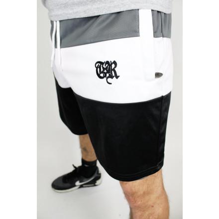 True Rebel Shorts Colour Block Charcoal