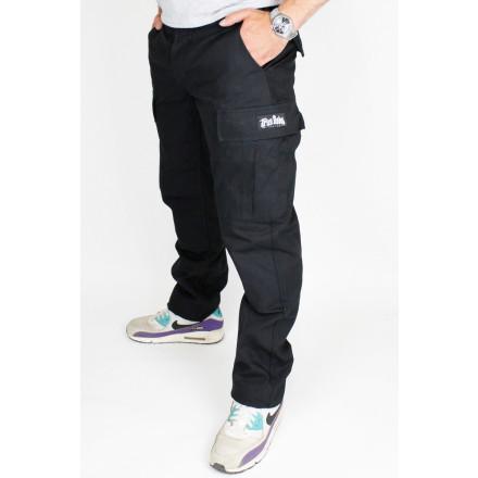 True Rebel Pants Cargo Black