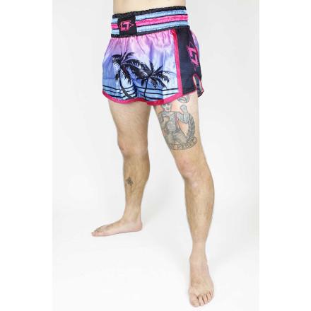 Less Talk Shorts Muay Thai Miami Turqouise Pink
