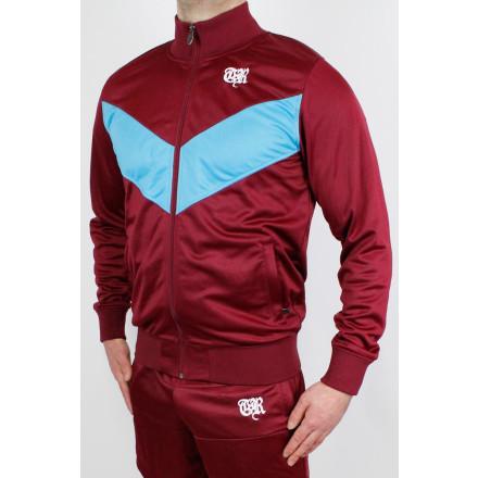 True Rebel Track Jacket Arrow Burgundy Blue