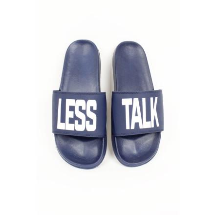 Less Talk Slides Navy White